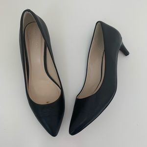 Cole Haan Kitten Heels 8.5 Black Leather Grand OS